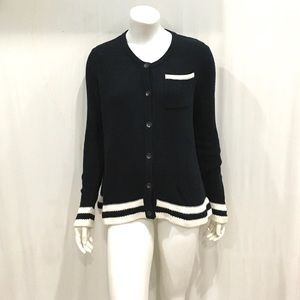 Rag & Bone Womans Navy Knitted Cardigan Sweater